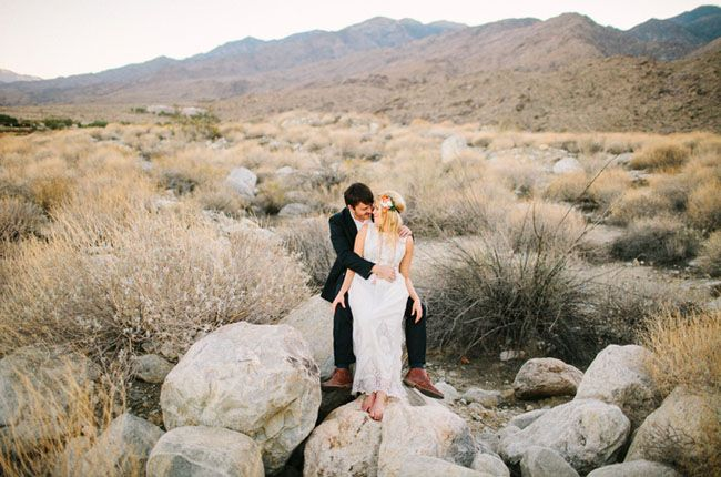 an elopement in palm springs