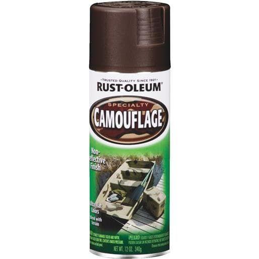 Rust-Oleum E Brown Camo Spray Paint 1918-830 Unit: Each