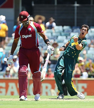 Mitchell Starc took a five-for, as Australia whipped West Indies in a nine-wicket win in Perth