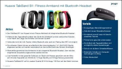 TWT Trendradar: #Fitness-Armband Huawei TalkBand B1