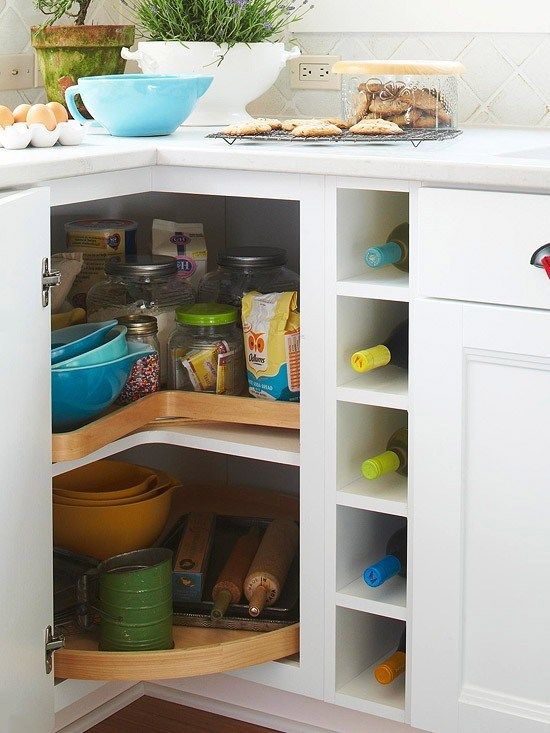 How to deal with the blind corner kitchen cabinet live simply by annie a 39 s new kitchen - Spice rack for lazy susan cabinet ...