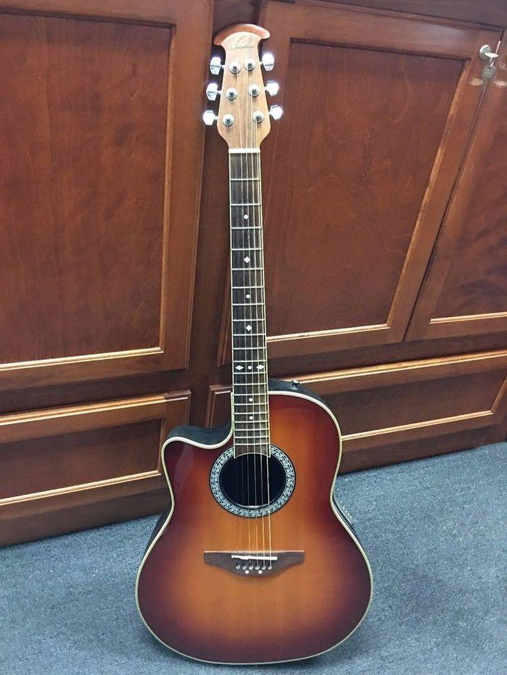 Ovation Celebrity LCC047 Left-Handed Acoustic Electric Sunburst Guitar #Ovation