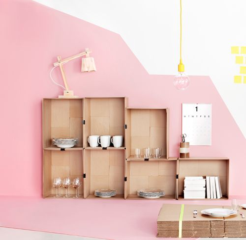 the perfect pink wall color | pink and yellow kids room | creative storage ideas | creative paint ideas