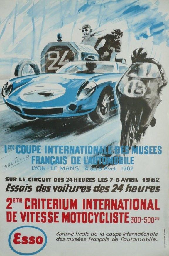... au+ 6 avril+ 1962 beligond sport posters car posters posters vintage