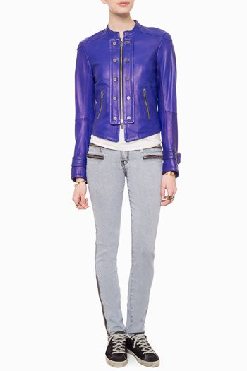 Kelly Wearstler leather jacket. Trend Alert: Bold and Beautiful Cobalt Blue | The English Room