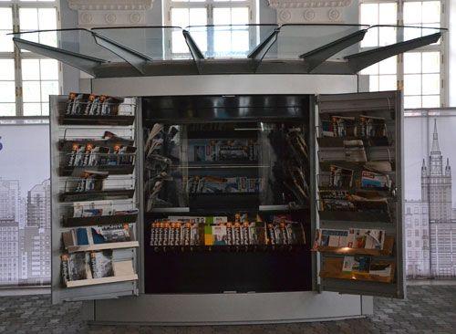 Газетный киоск, конструкции уличной мебели, фото advertology.ru