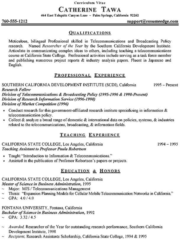 cv format resume