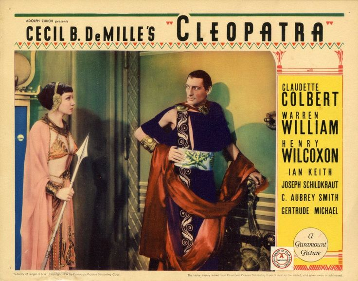 Cleopatra 1934 Poster