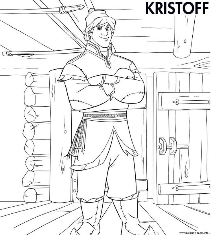 coloring pages frozen kristoff actor - photo#3