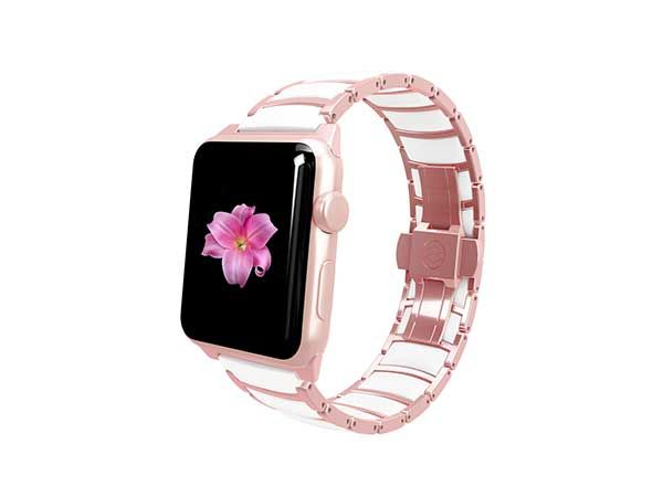 Monowear rose gold ceramic band - Apple Watch