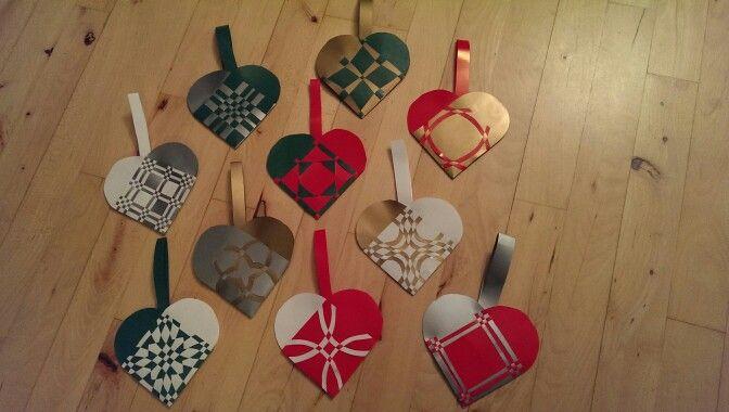 Julehjerter #paper hearts