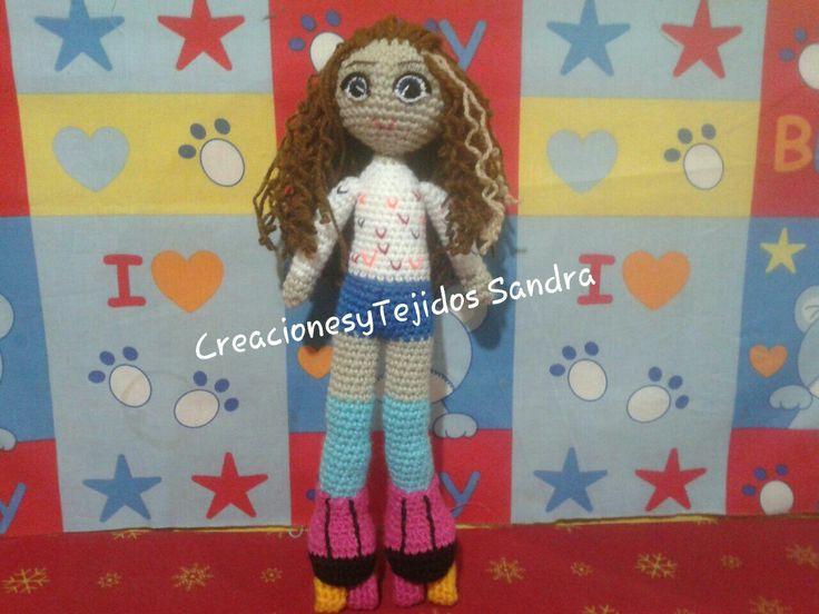 Muñeca Amigurumi, representa a «Yo Soy Luna»