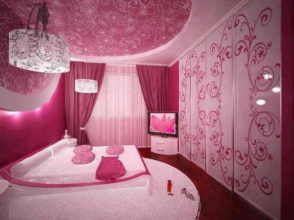 Pembe Yatak Odasi Dekorasyonu Ev Dekorasyon Yatak Odasi