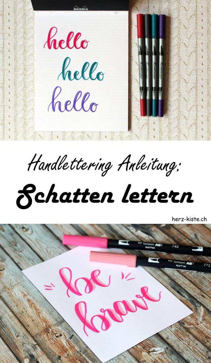 In dieser Handlettering Anleitung erfährst du, wie du Schatten richtig lettern kannst und lernst drei verschiedene Möglichkeiten um Schatten bei deinem Handlettering dazuzufügen.