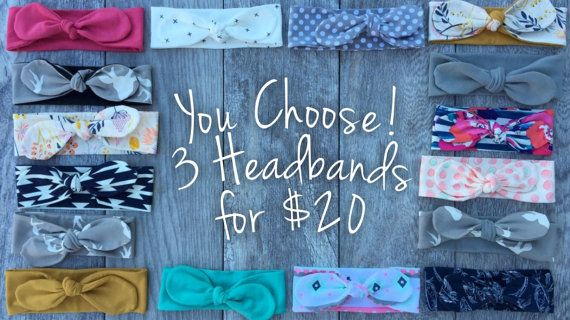 Hey, I found this really awesome Etsy listing at https://www.etsy.com/listing/257142523/3-topknot-headbands-baby-girl-baby-girl