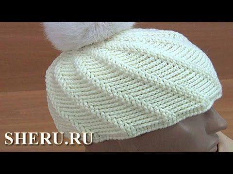 Теплая шапка крючком Урок 168 - YouTube