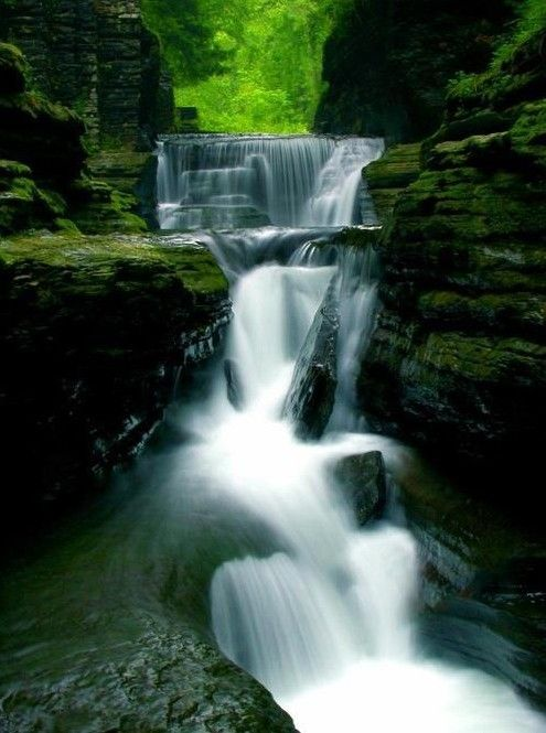 Waterfall Gorge, Ithaca, New York