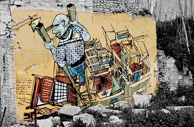 Giannis Petrou, near ancient theater in Larissa, Greece. Γιάννης Πέτρου στο Αρχαίο Θέατρο,  Λάρισα. Φωτογραφία του Αλέξανδρου Ζάγκα.