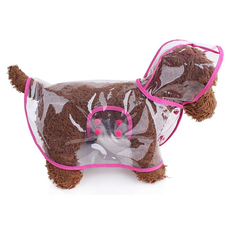 2015 moda para mascotas perro lluvia chaqueta de la capa ropa perros impermeable capa del perrito chubasquero Rainsuit Chihuahua transparente 5 colores en Chaquetas para perro de Casa y Jardín en AliExpress.com | Alibaba Group