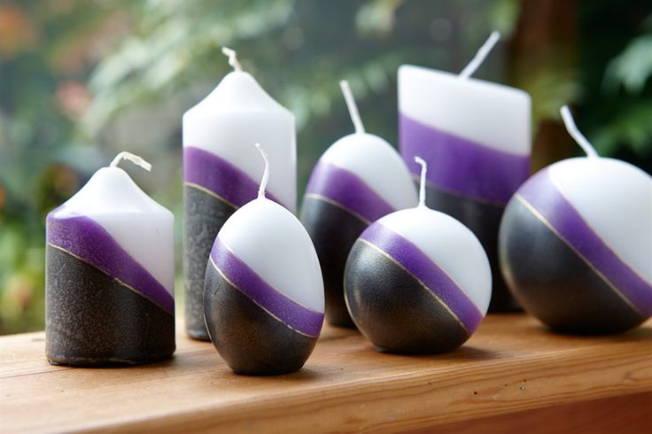 Cracked ice range of candles available in many shapes and colours