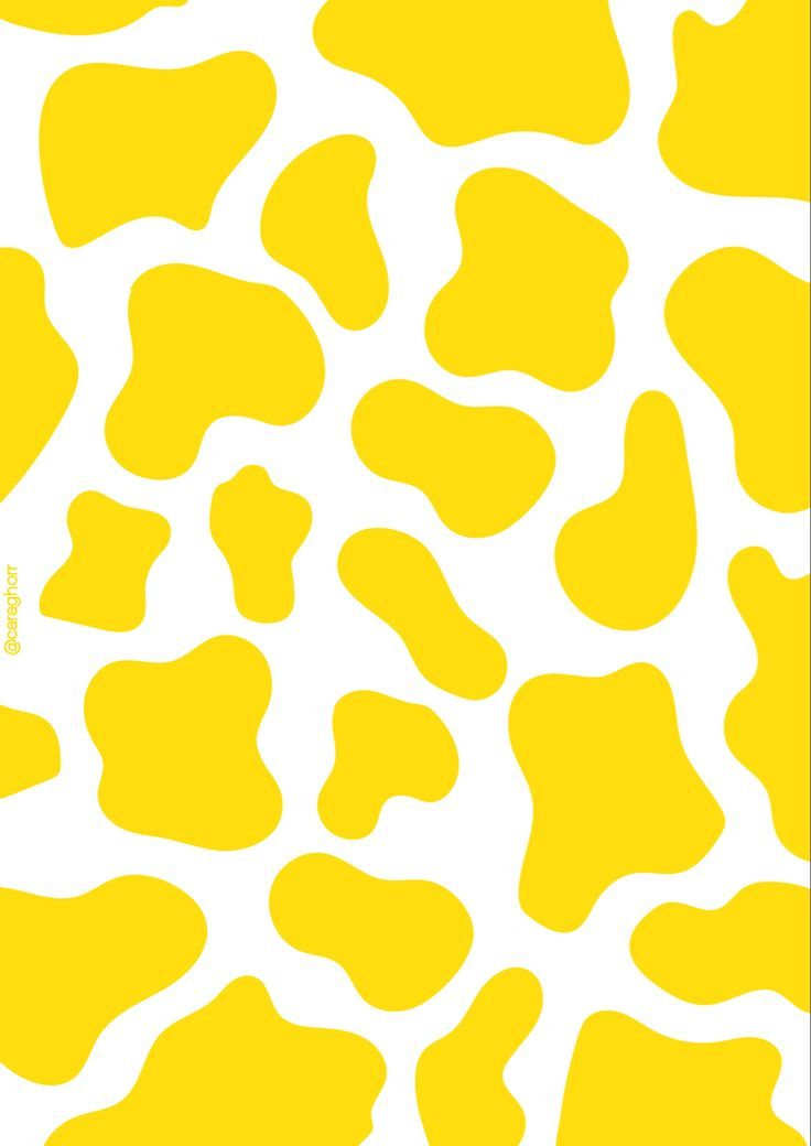 HD Aesthetic Cow Print Wallpaper Yellow Download