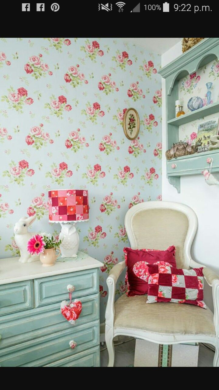 61 best cath kidston images on pinterest bath clothing and crafts vintage floral walalpaper and patchwork lamp cover a cottage chic cath kidston home doublecrazyfo Images