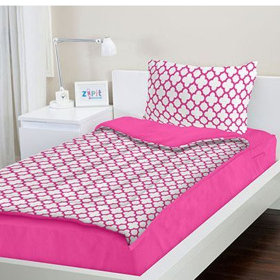 Pink Reversible Bed-In-A-Bag Set
