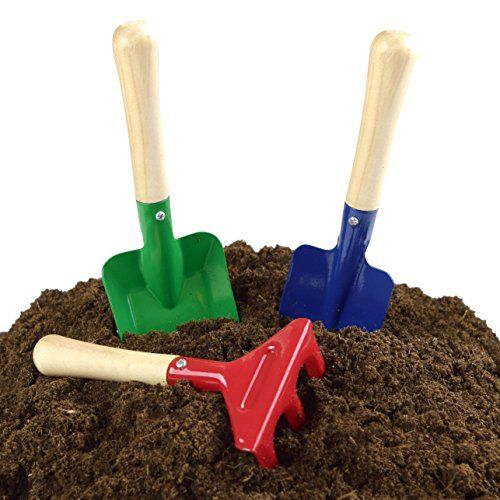 Kangaroo's Kids Garden Tools Are Functional High Quality Hand Garden Tools For Kids Each Gardener's Kit Includes a Trowel, Rake & Shovel; Miniature Garden Tools Kids Gardening Tools Are Bright Colors; Fun For All Ages 3 to 12.   toys4mykids.com