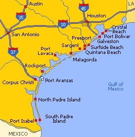 Texas Beaches are scattered along 560 Km of shoreline in the Gulf of Mexico. Texas is not known for its great beaches but still one can enjoy beautiful summer days on its shores.