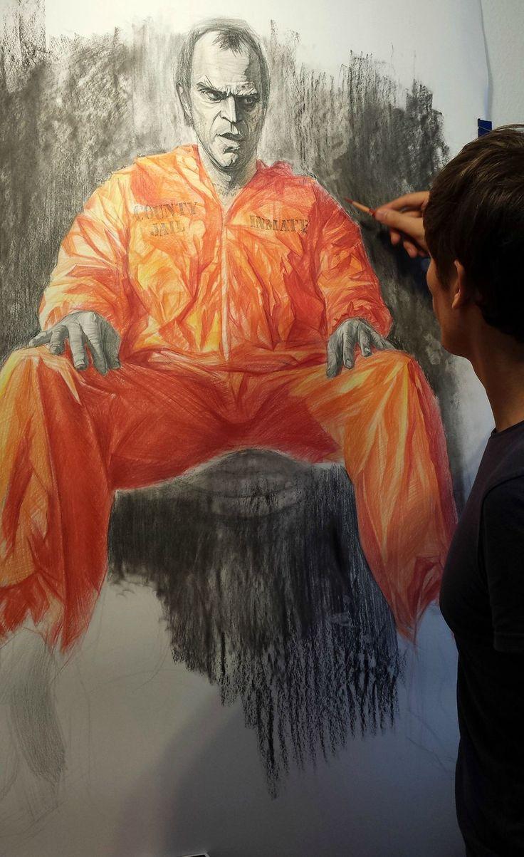 I'm doing an art work in Honor of Trevor Phillips.