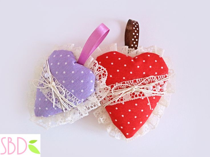 Sweet Bio design: Cuori di Stoffa (no cucito) - Fabric hearts (no sew)