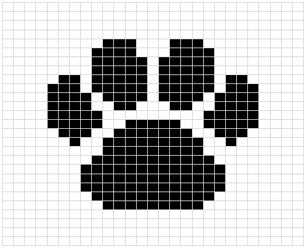 DigKnitty Designs: Paw Print Dishcloth Pattern