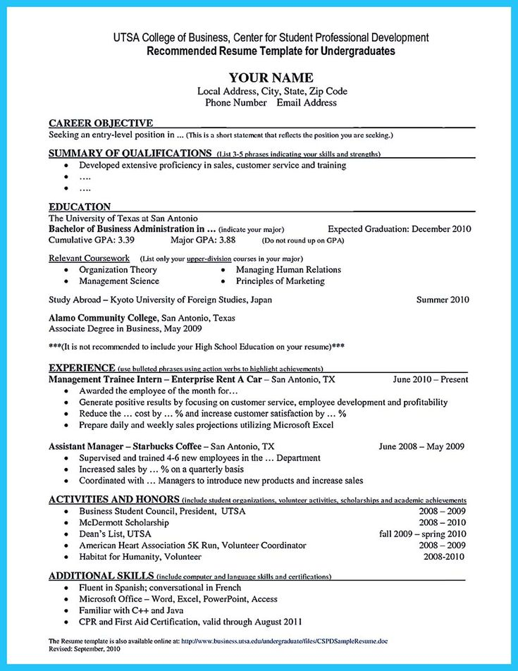 nice Best Current College Student Resume with No Experience, Check more at http://snefci.org/best-current-college-student-resume-no-experience