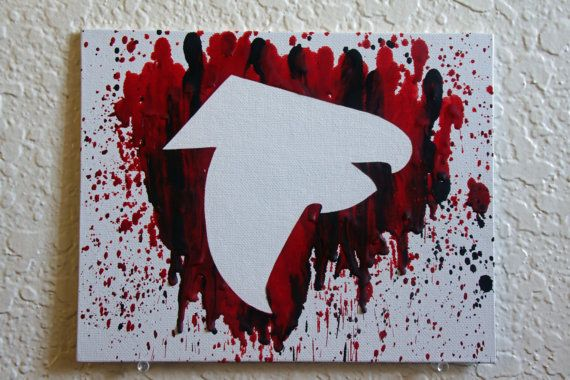 Atlanta Falcons Melted Crayon Art by MikeAndKatieMakeArt on Etsy
