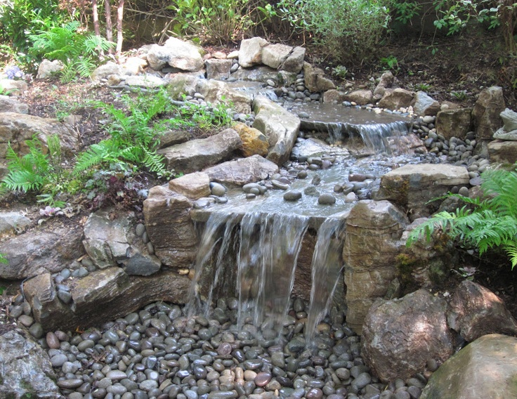 Pondless water feature a collection of other ideas to try for Backyard streams and waterfalls