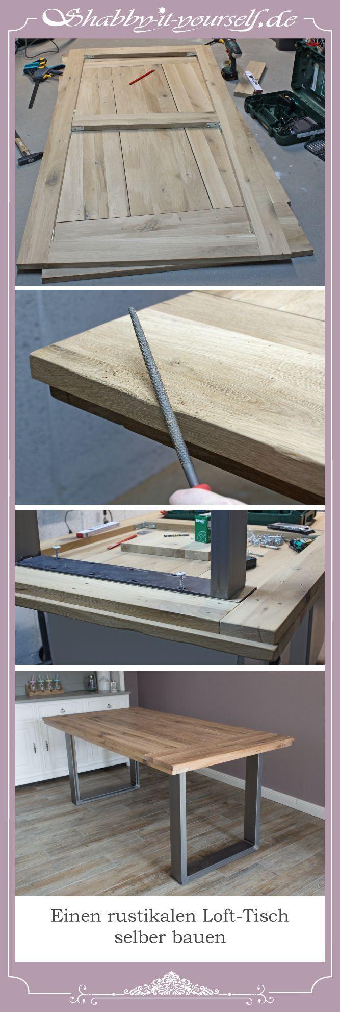 Einen rustikalen Loft-Tisch selber bauen – So geht's
