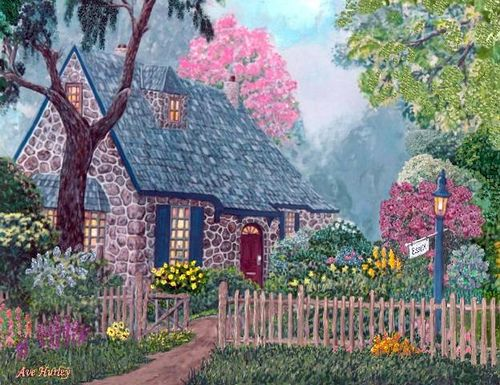 Imagine living in a peaceful world with a cozy cottage somewhere in the country! Heaven on earth! Aline