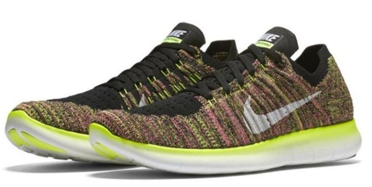Nike Men's Free RN Flyknit OC Athletic Snickers Running Training Shoes New #Nike #AthleticSneakers