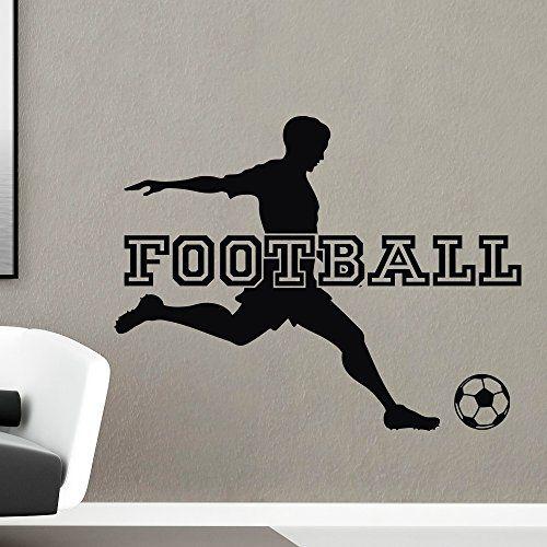 Football Wall Decal Sports Man Football Player Sport Gym Soccer Wall Decals Vinyl Stickers Bedroom Nursery Kids Boys Room Home Decor Q112 #walldecals #sport #vinylstickers #football http://www.amazon.com/dp/B00X8874XW/ref=cm_sw_r_pi_dp_V8Itvb1NM6PA4