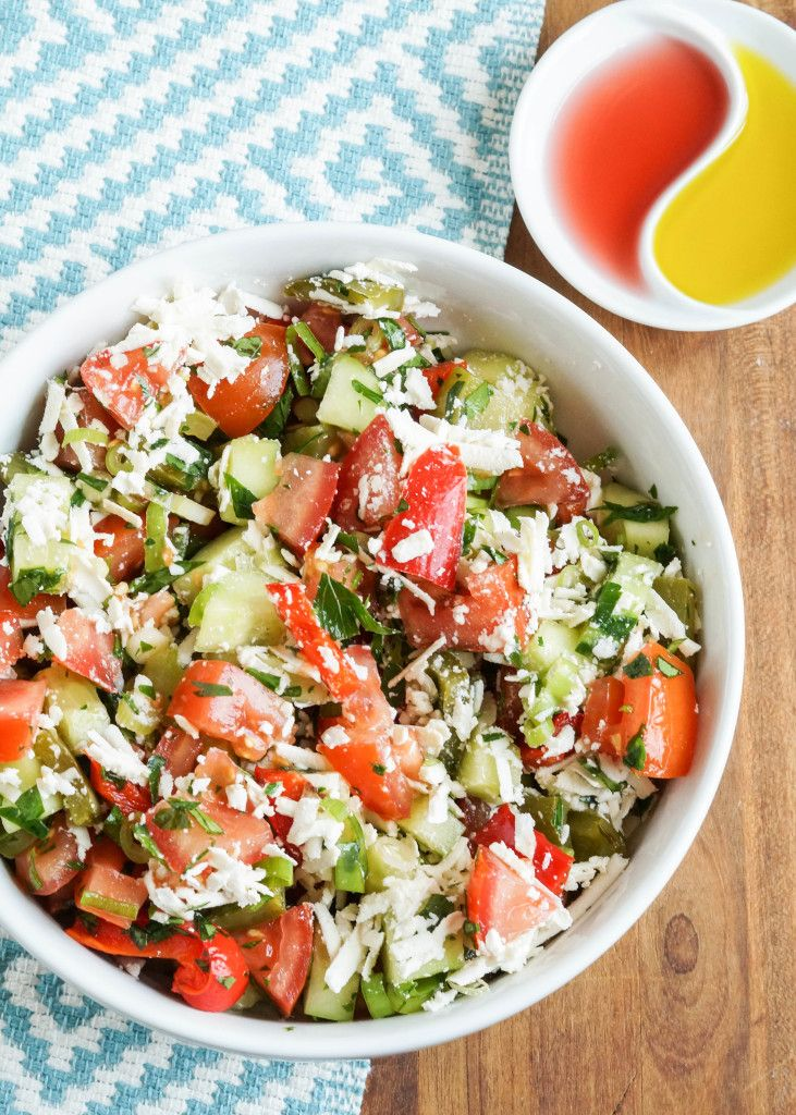 Shopska Salata is a Bulgarian salad created by tossing together chopped…