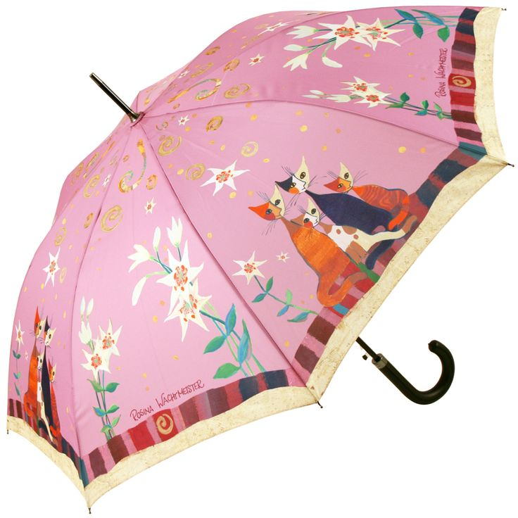 Lilien by Rosina Wachtmeister Art Umbrella Automatic Walking Length - Brolliesgalore