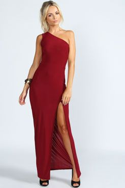 Kylie Slinky Maxi Dress at boohoo.com
