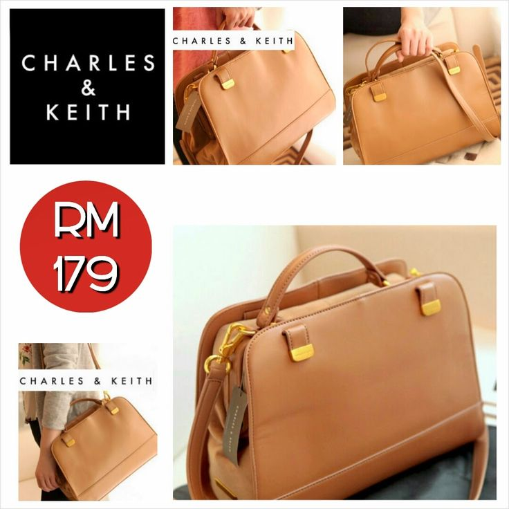CHARLES & KEITH Bag (Dark Brown & Camel) ~ SOLD OUT! - SHANTEK COLLECTION