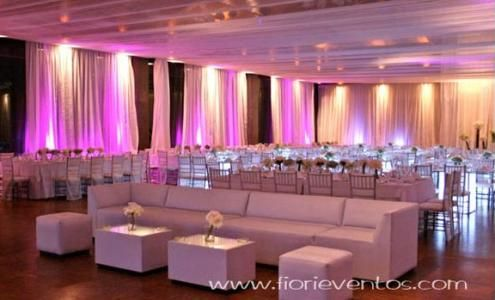 Ceiling decoration using fabric for the outdoor tent