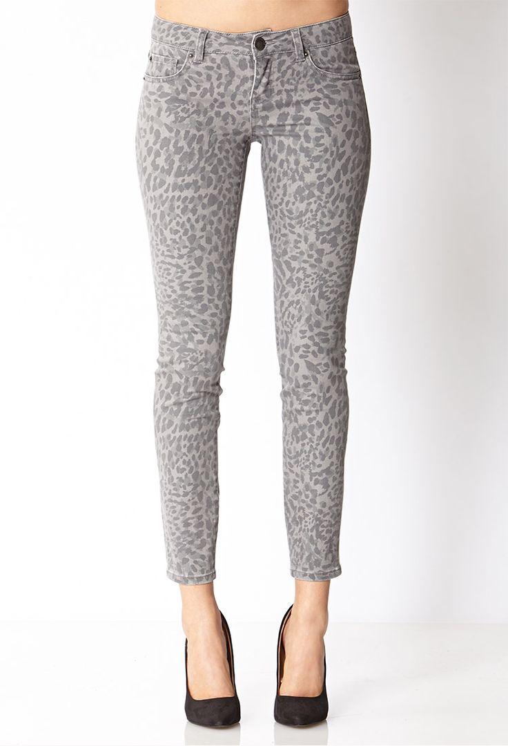 Life In Progress™ Leopard Skinny Jeans | FOREVER21 Spot on