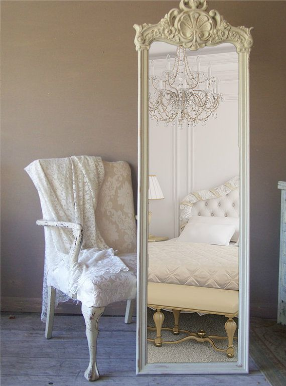 French Provencal Full Length Mirror Leaning by smallVintageAffair, $489.00