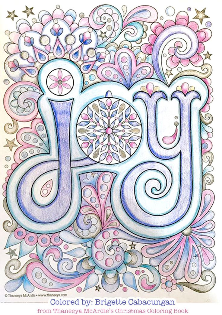 Joy coloring page by Thaneeya McArdle Christmas coloring