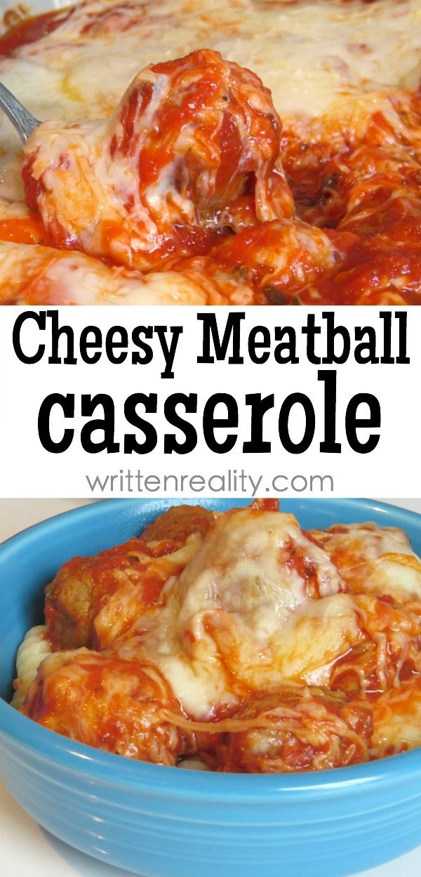 Cheesy Meatball Casserole recipe