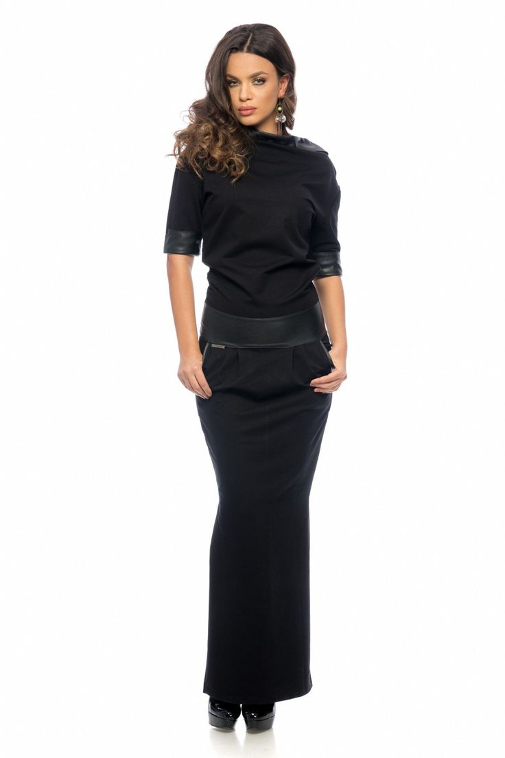 Rochie Lauren Neagra 219 lei Rochie lunga casual-eleganta