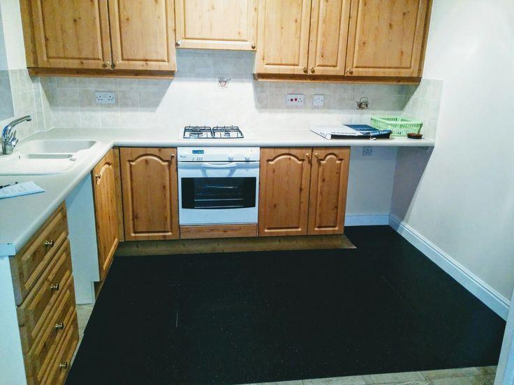 Black Onyx tiles for floor.